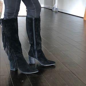 Steve Madden knee high fringe boots